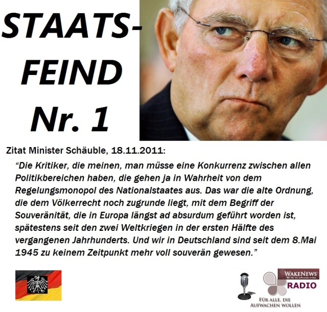 Schäuble Staatsfeind Nr. 1