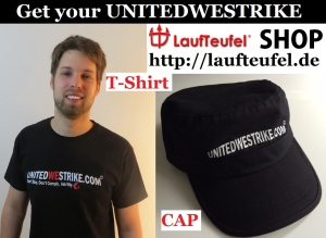 Get your UNITEDWESTRIKE T-Shirt + Cap