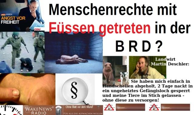 Menschenrechte mit Füssen getreten BRD