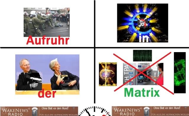 Aufruhr in der Matrix m. logo