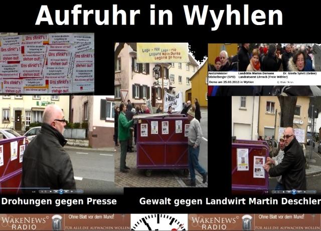 Aufruhr in Wyhlen