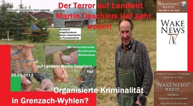 Terror bei Landwirt Martin Deschler geht weiter