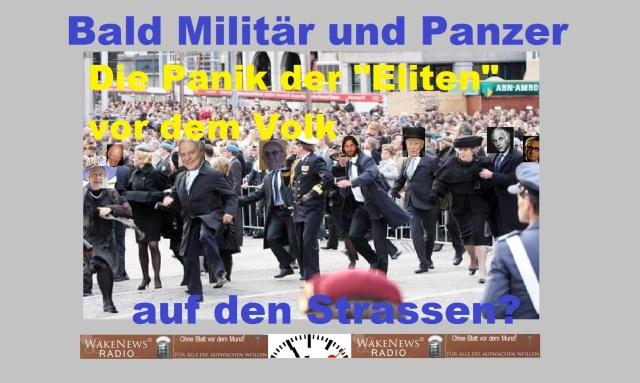 Bald Militär und Panzer auf den Strassen