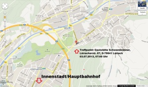 Anfahrtskizze Lörrach 03.07.2013