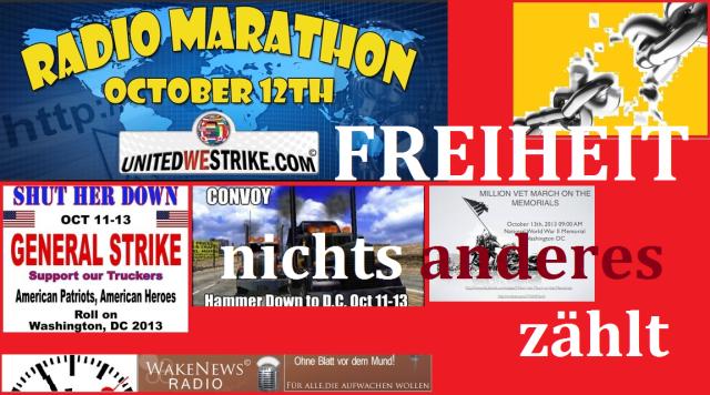 FREIHEIT NICHTS ANDERES ZÄHLT Oct 12 2013