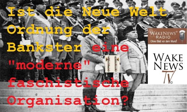 Neue Welt Ordnung eine moderne faschistische Organisation