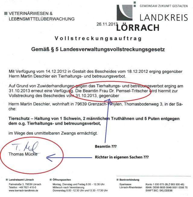 Thomas Mücke Schreiben vom 2013 Mark