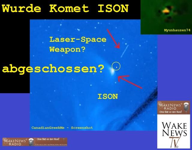Wurde Komet ISON abgeschossen