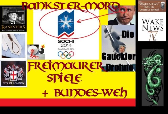 Bankster-Mord, Freimaurer-Spiele + Bundes-Weh
