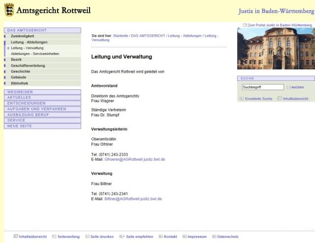 Leitung AG Rottweil