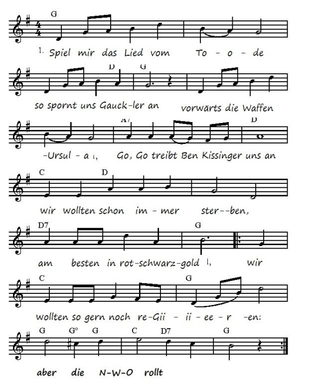 Spiel mir das Lied vom Tode - Bundes-Weh