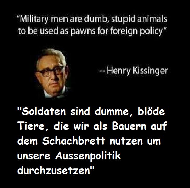 Kissinger Soldaten-Zitat