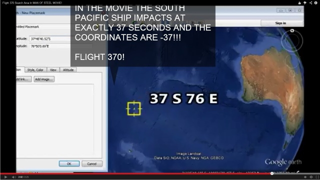 Man Of Steel Coordinates Flight 370