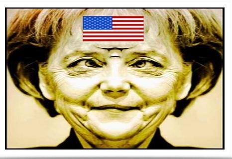 Merkel US Flag