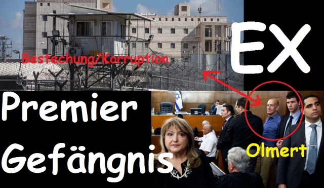 Israels Premier Olmert Bestechung Korruption Gefängnis