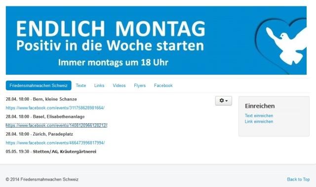 Montagsdemos Schweiz