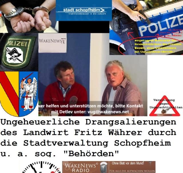 Ungeheuerliche Drangsalierung des Landwirt Fritz Währer durch Stadtverwaltung Schopfheim