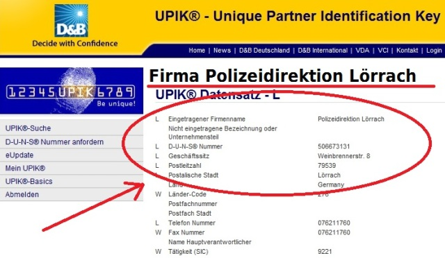 Firma Polizeidirektion LÖ