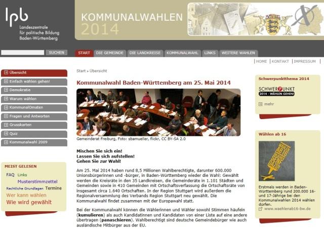 Kommunalwahlen BW 20140525