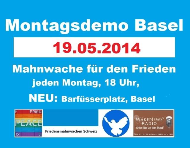 Montagsdemo Logo Schweiz Basel 20140519