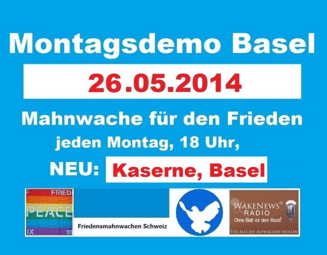 Montagsdemo Logo Schweiz Basel 20140526