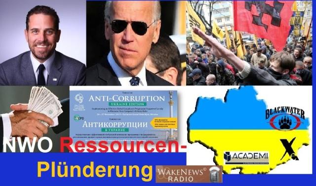 NWO Ressourcenplünderung in der Ukraine
