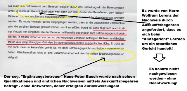 Beschluss des sog. Amtsgericht Lörrach - Ausfertigung - Seite 2