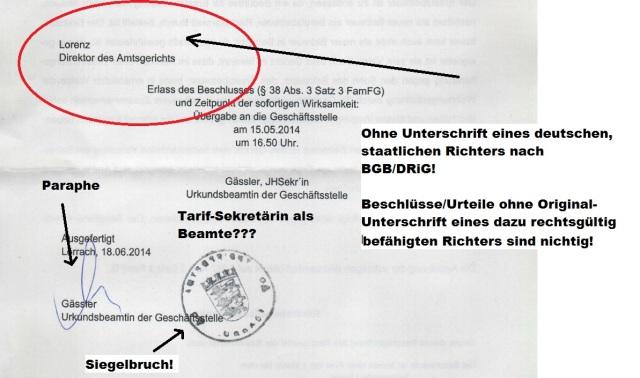 Beschluss des sog. Amtsgericht Lörrach - Ausfertigung - Seite 4