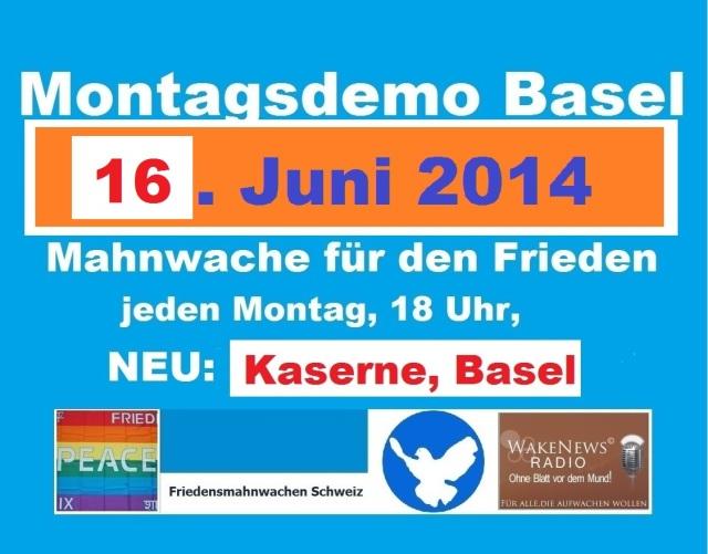 Montagsdemo Logo Schweiz Basel 20140616