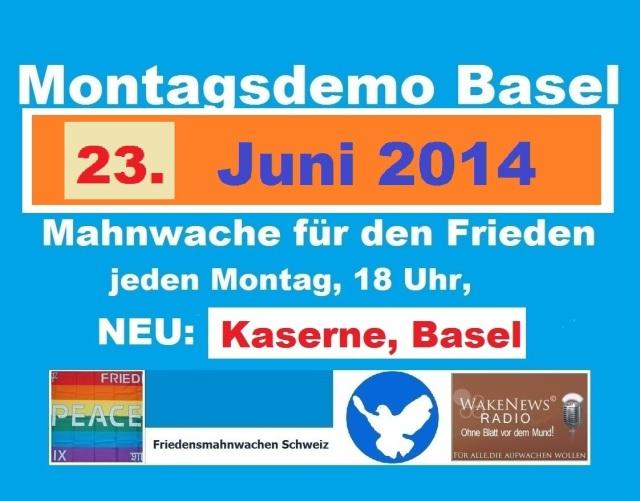 Montagsdemo Logo Schweiz Basel 20140623