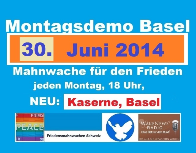 Montagsdemo Logo Schweiz Basel 20140630