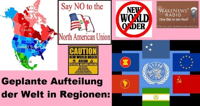 NWO - Geplante Weltaufteilung