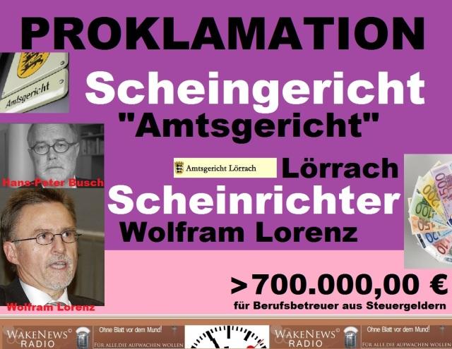 Scheingericht Lörrach - Scheinrichter Wolfram Lorenz
