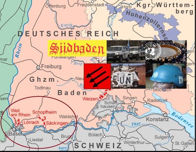 UN-Truppen nach Südbaden