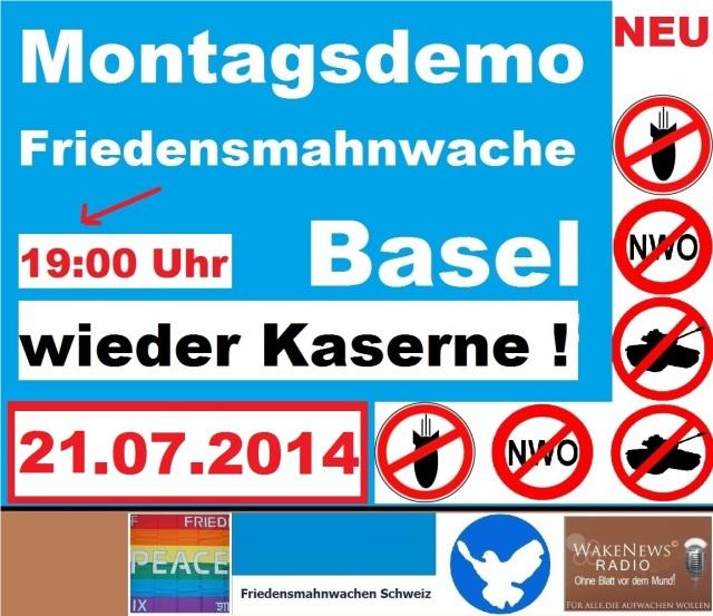 21.07.2014 Friedensmahnwache Basel