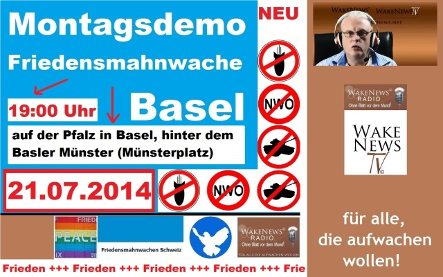 21.07.2014 Friedensmahnwache Münsterplatz Basel