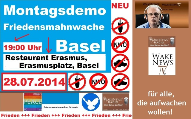 28.07.2014 Friedensmahnwache Basel Erasmusplatz