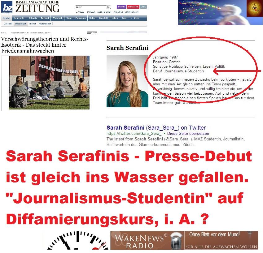 Sarah Serafini - Presse-Debut Debakel