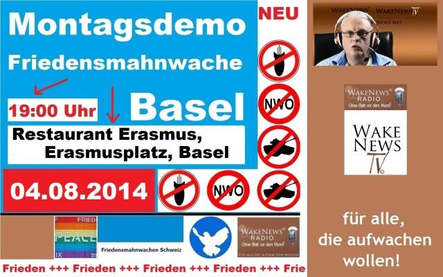 04.08.2014 Friedensmahnwache Basel Erasmusplatz