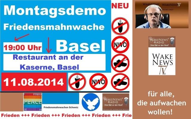 11.08.2014 Friedensmahnwache Basel Kaserne