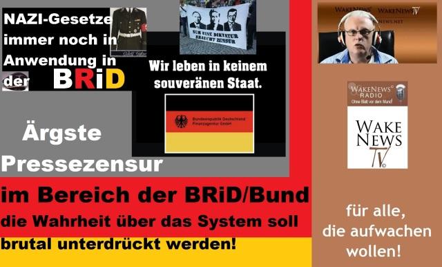 Ärgste Pressezensur im Bereich der BRiD Bund