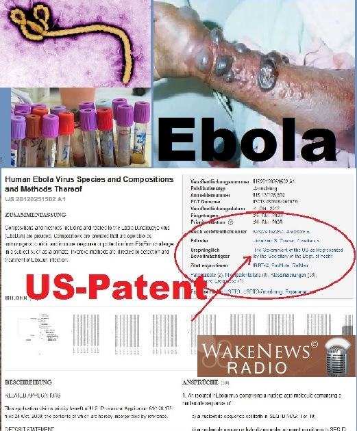 Ebola US-Patent US 20120251502 A1