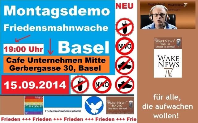 15.09.2014 Friedensmahnwache Basel Unternehmen Mitte