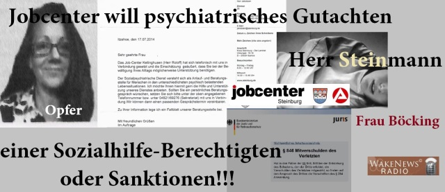 Jobcenter Steinburg will psychiatrisches Gutachten oder Sanktionen