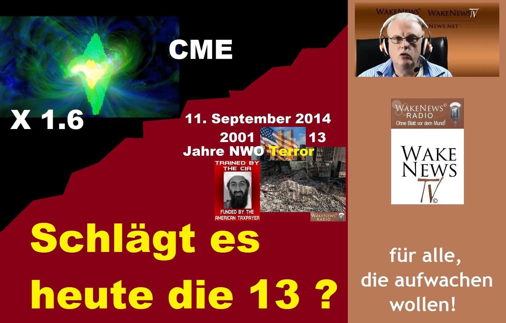 Schlägt es heute die 13 - 11. September 2014