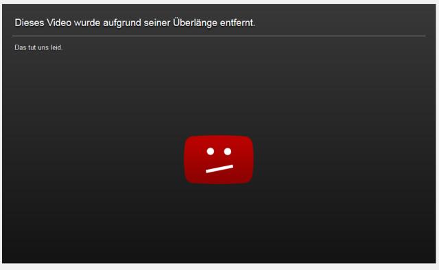 Video wurde wegen seiner Überlänge entfernt 20140916
