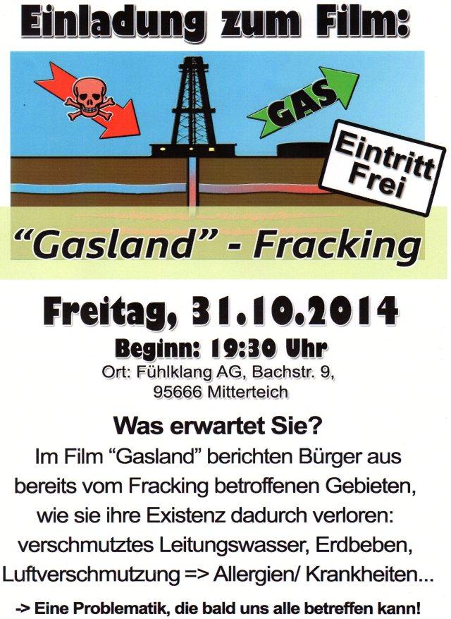 Flyer - Fracking