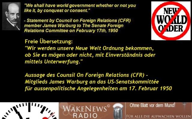 James Warburg - Wir werden unsere Neue Welt Ordnung bekommen