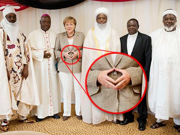 Merkel Dach mit Muslimen