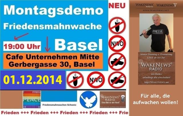 01.12.2014 Friedensmahnwache Basel Unternehmen Mitte